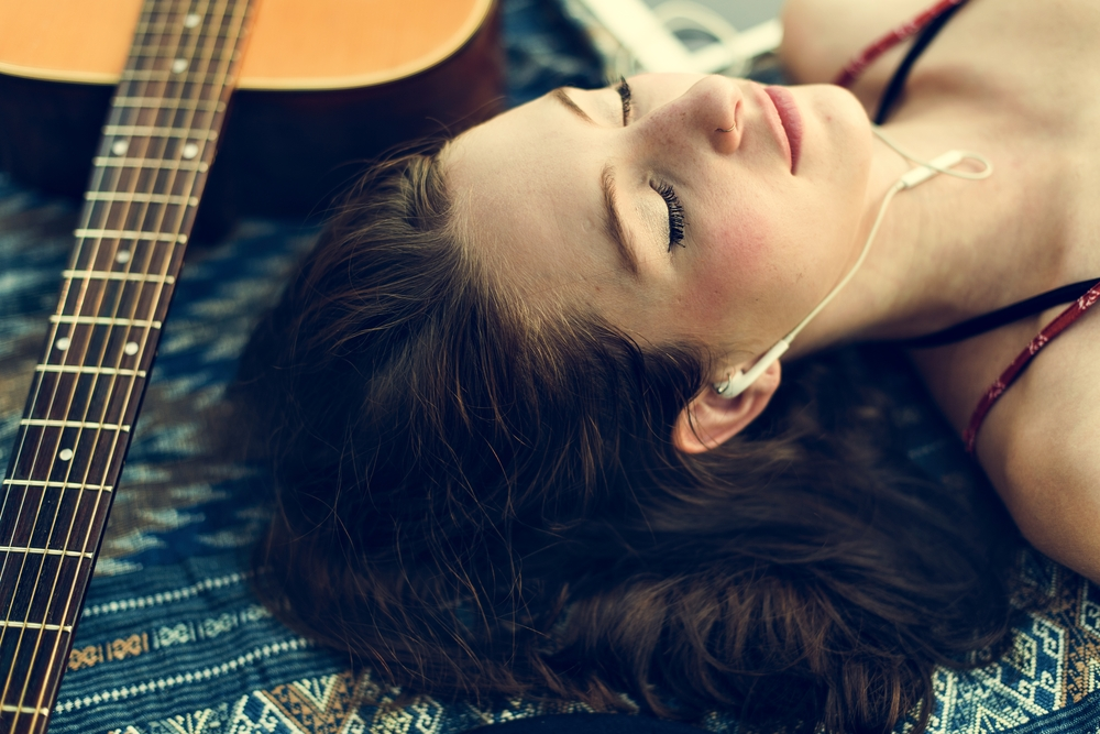 relaxing with instrumental music